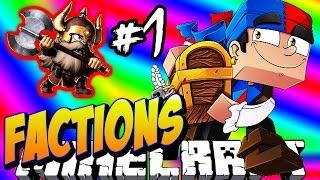 Minecraft FACTIONS #1 'DIAMOND DWARVES!' - Treasure Wars S1 w/ Vikkstar