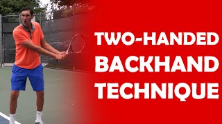 getlinkyoutube.com-Two-Handed Backhand Technique | BACKHAND TECHNIQUE