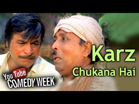 Kader Khans Most Viewed Comedy Scenes - Kader Khan Is A Headache - Karz Chukana Hai