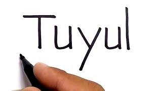 NGAK SERAM, menggambar TUYUL dengan kata tuyul