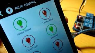 Arduino ESP8266 IoT : Relay Control Internet