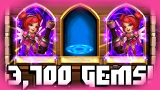 getlinkyoutube.com-Castle Clash Rolling 3,700 Gems For Heartbreaker!