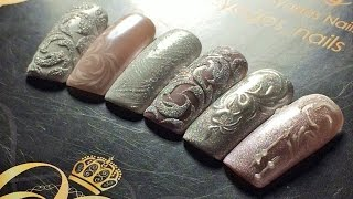 getlinkyoutube.com-ТОП 5 зимних ДИЗАЙНОВ ногтей♥втирка♥пигмент♥акриловая пудра♥чеканка♥вензеля♥NOGTIKA & OLESYAGES NAIL