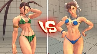 getlinkyoutube.com-Ultra street fighter 4 PC - Bikini Battle - Chun li Ibuki