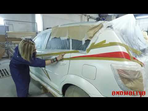 Покраска раптором Pontiac Vibe