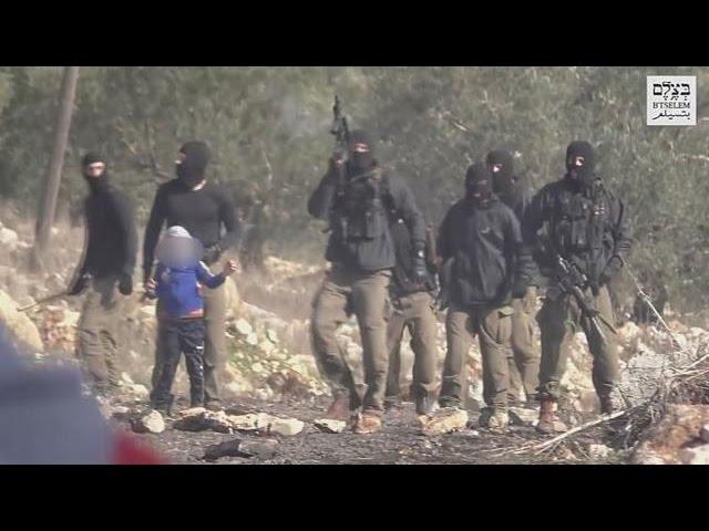 Israelische Einsatzkräfte nehmen kind als Geisel