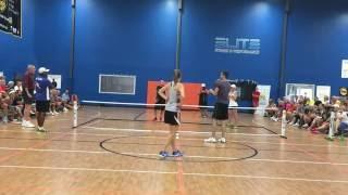 getlinkyoutube.com-Pickleball Dream Team Match (Ansboury/Staub vs. Blom/Blom) - Pickleball Summit (Charlotte)