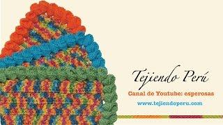 getlinkyoutube.com-Borde de flores de campanillas tejido a crochet