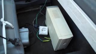 getlinkyoutube.com-Как сделать простой преобразователь тока из 12 В на 220 В из старого бесперебойника  своими руками