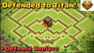 getlinkyoutube.com-Clash of Clans - WORLD'S BEST BASE! Defended to Titan! | Build + Replays