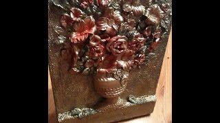 فكرة مشروع صغير:طريقة صنع تابلوه رائع من عجينة السيراميك ,Ceramic paste,diy craft