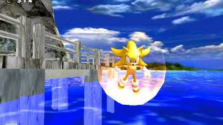 getlinkyoutube.com-Sonic Adventure DX PC- Real Super Sonic in Emerald Coast