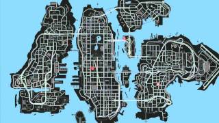 gta 4 map with hidden spots and cars youtube - Gta 4 Secret Cars Locations Xbox 360