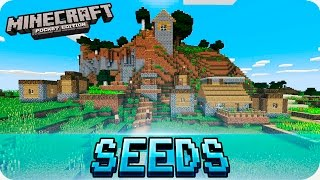getlinkyoutube.com-Minecraft PE Seeds - Three Villages, Flat Spawn, Glitched Village! 0.16.0 / 0.15.0 MCPE