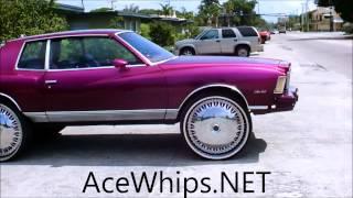 "getlinkyoutube.com-AceWhips.NET- Candy Purple Chevy Monte Carlo on 28"" Billionaire Floaters"