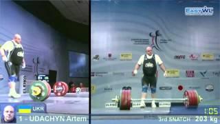 getlinkyoutube.com-Artem UDACHYN at 2013 European Wieghtlifting Champs