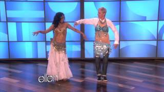 getlinkyoutube.com-Ellen Learns to Belly Dance