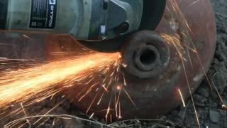 getlinkyoutube.com-Супер гриль мангал барбекю коптильня из газового баллона(Дневник рыболова) Super Smoker