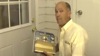 nightlock easy to install video for home security door brace barricade.