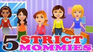 getlinkyoutube.com-Five Strict Mommies Childern Nursery Rhymes    Cartoon Animation Rhymes for Children  