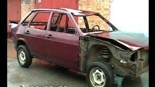 getlinkyoutube.com-Рихтовка ВАЗ 21099. Кузовной ремонт. слайд-шоу. BODY REPAIR