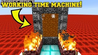 getlinkyoutube.com-Minecraft: WORKING TIME MACHINE!! (TRAVEL TO THE PAST & FUTURE!!) Mod Showcase