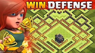 getlinkyoutube.com-Clash of Clans - NEW Update TH9 Trolling BASE! CoC Town hall 9 Trophy/War BASE!!