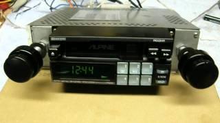 alpine 7502 cassette player youtube rh youtube com Alpine V12 Amp Wiring Diagram Alpine KTP-445 Wiring Diagram Unit