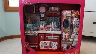 Opening/Review of Our Generation Kitchen Set!