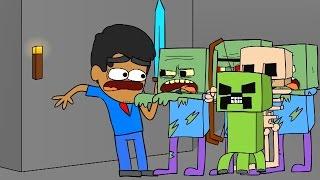 Minecraft Animated Short #8 - RAIDING THE DARK GATE (How To Minecraft Animation)