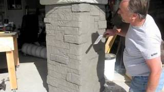 getlinkyoutube.com-Decorative Concrete used to create Stone Masonry