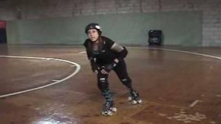 getlinkyoutube.com-Roller Derby - How to do a Power Slide