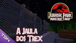 getlinkyoutube.com-🎮 Jurassic Park Minecraft Map :: Ep 4 :: A Jaula dos T-REX