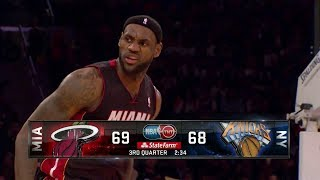 getlinkyoutube.com-2014.01.09 - LeBron James Full Highlights at Knicks - 32 Pts, 6 Assists