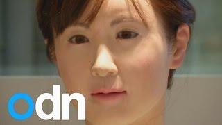 A robot receptionist starts work in Tokyo