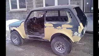 getlinkyoutube.com-LADA NIVA Restauration  1.7 petrol engine - 1.9 TDI
