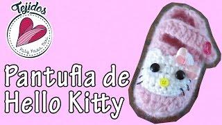 getlinkyoutube.com-Pantuflas de Hello Kitty - TUTORIAL