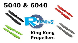 getlinkyoutube.com-KingKong 5040 & 6040 propellers - from bangGood