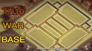 Clash of clans Town hall 10 WAR BASE TH10  تصميم حرب تاون هول 10