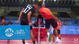 getlinkyoutube.com-Sepaktakraw Men's Regu Philippines vs Singapore (Day 8) | 28th SEA Games Singapore 2015