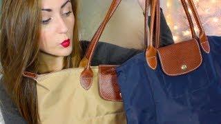 getlinkyoutube.com-SarahSpills: Longchamp Le Pliage Totes