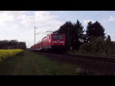 DB 112 136 with Doubledecker Train at Kaarst,Germany 13-4-14.