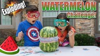 getlinkyoutube.com-EXPLODING WATERMELON CHALLENGE!