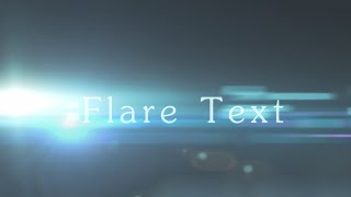 getlinkyoutube.com-After Effects Tutorial | Flare Text Effect Animation