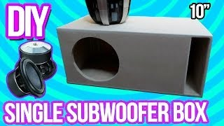 getlinkyoutube.com-DIY - Make a Subwoofer Box 10"