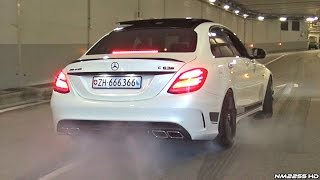 getlinkyoutube.com-Supercars Go CRAZY in a Tunnel!! - Launches, Burnouts & Accelerations!