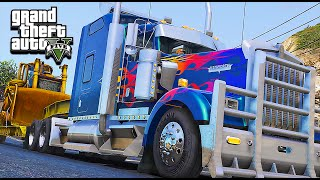 getlinkyoutube.com-American Truck Simulator Multiplayer Mod in Grand Theft Auto V (ATS in GTA 5)