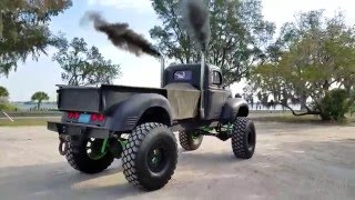 Walk Around 12v Cummins Rat Rod on 46's