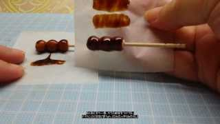 getlinkyoutube.com-♪ミニチュアデコ粘土♪ みたらし団子-○○○―の作り方
