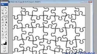 getlinkyoutube.com-Any photo into a jigsaw puzzle - Photoshop - Week 21